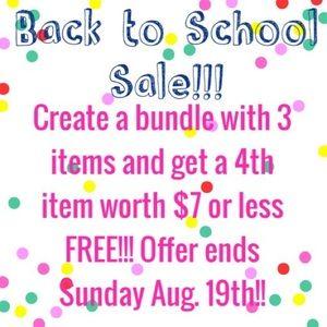 BACK TO SCHOOL SALE! Create a bundle......